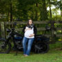 Maternity photography with motorcycle Raleigh