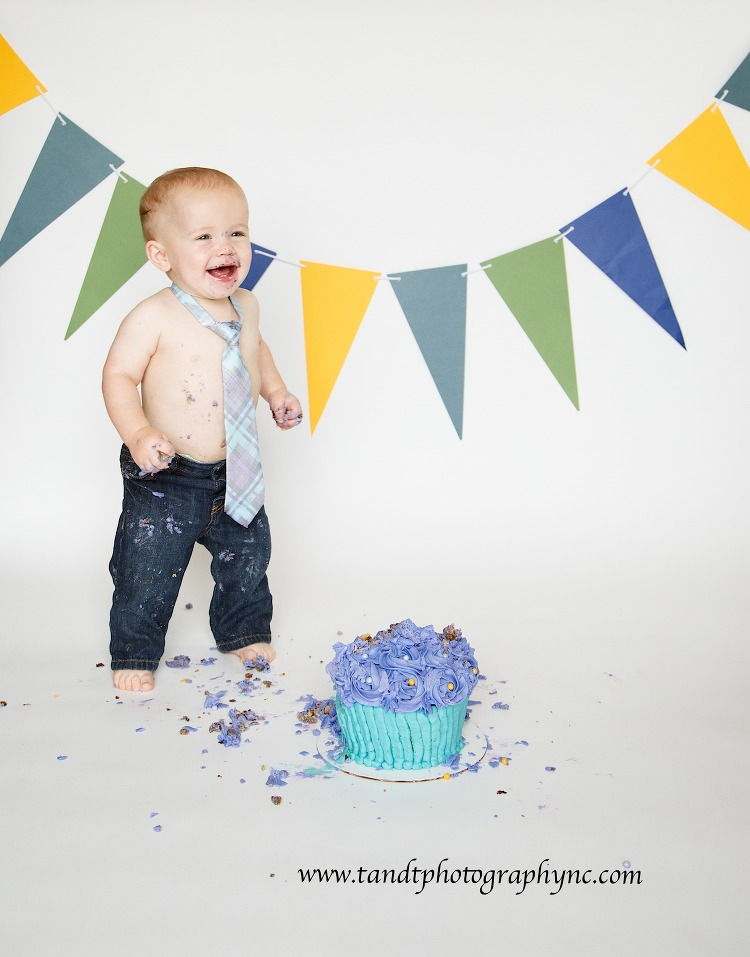 He Loves Some 1st Birthday Cake Raleigh NC