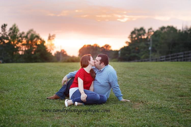 Sunset engagement photography NC