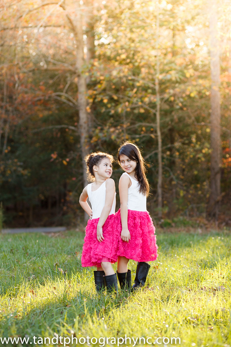 Sibling photography in Holly Sprigs NC at Sugg Farm
