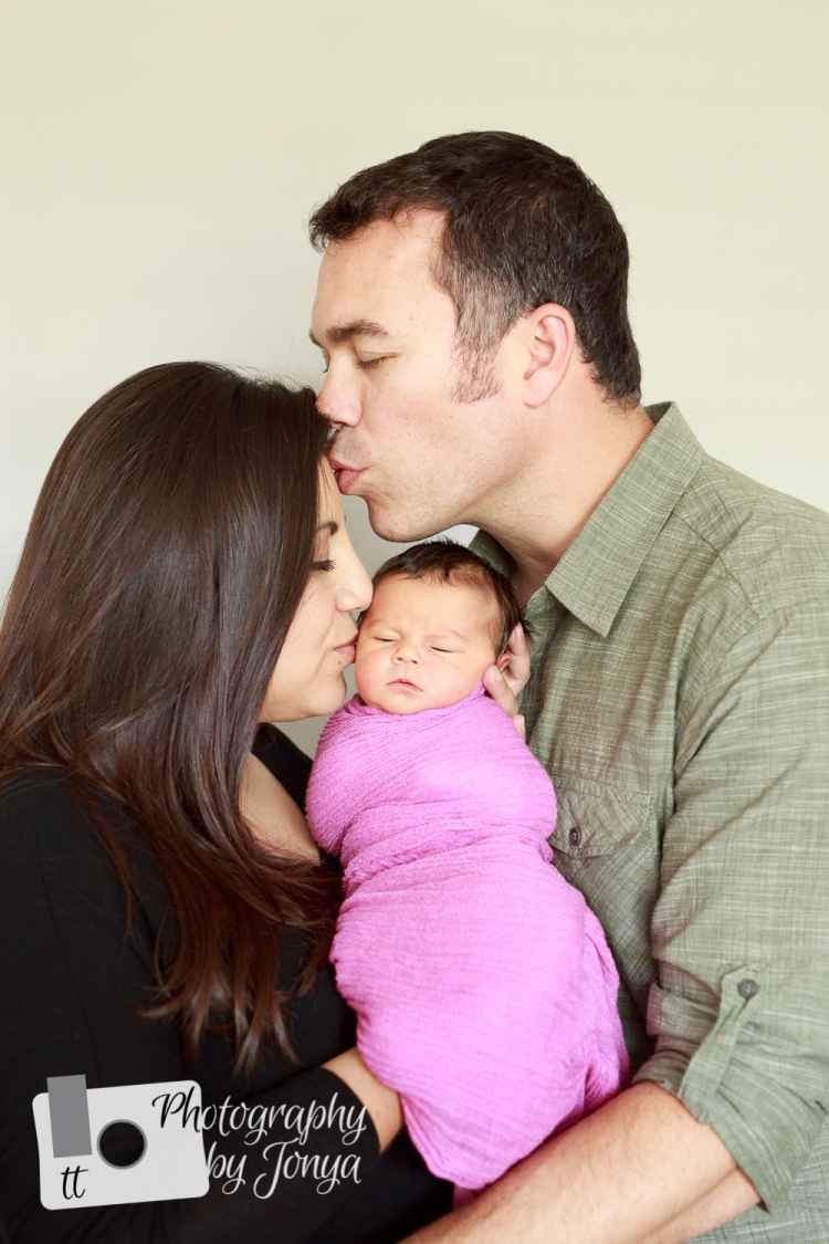 Raleigh family photography during a newborn photo session