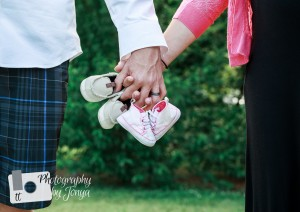 Maternity photography session with twins expected
