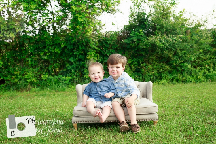 brothers during family photography session in Raleigh NC
