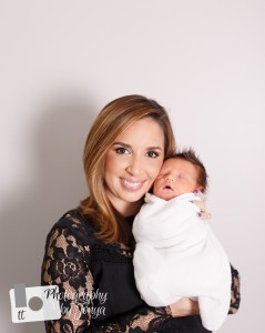 Mommy and me photo in newborn photography session