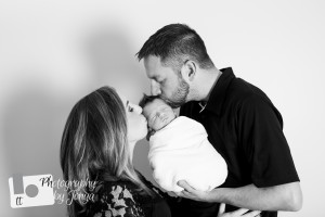 Raleigh NC Family Photography in studio for newborn shoot