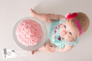 cake smash photography for girl in raleigh nc