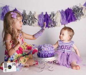 purple cake smash