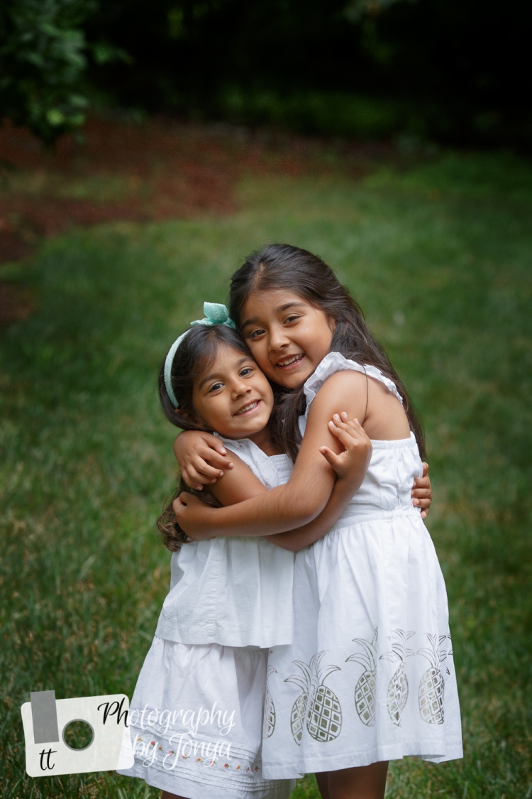Sisters for family photography session