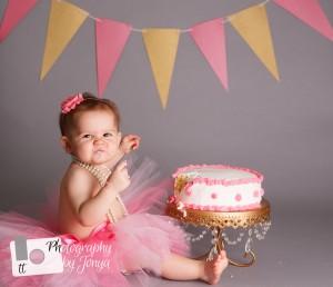 Holly Springs cake smash photography