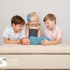 Sibling photography during a newborn photography session in Raleigh NC