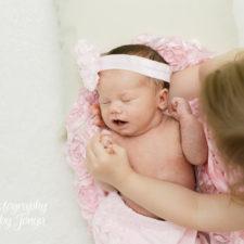 In home newborn photographer Raleigh