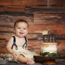 Rustic boy cake smash