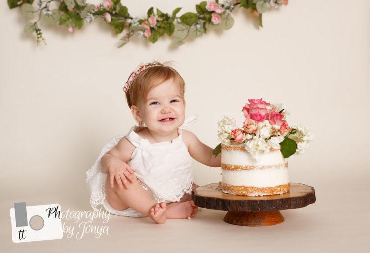 girl boho cake smash