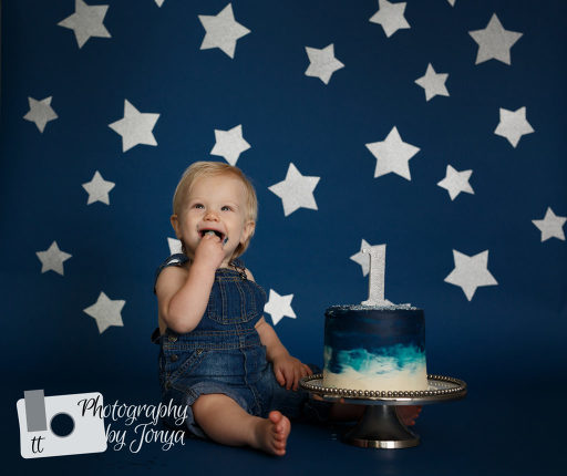 Stary night cake smash
