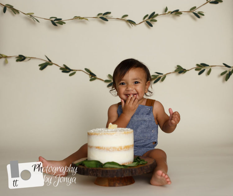 First Birthday Cake Smash Photographer Raleigh