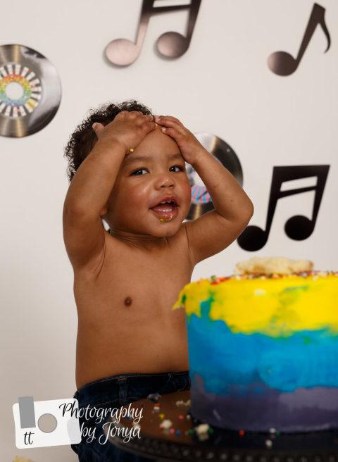 Motown Magic Cake Smash   Cake Smash Photographer Raleigh